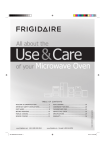 Frigidaire 316902449 Microwave Oven User Manual