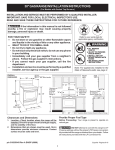 Frigidaire 316259343 Range User Manual