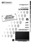 Emerson LC420EM8 Flat Panel Television User Manual