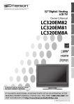 Emerson LC320EM81 Flat Panel Television User Manual