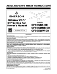 Emerson CF955WW 00 Fan User Manual