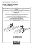 Dolmar PS-7310 Chainsaw User Manual