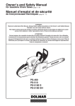 Dolmar PS-5100 S Chainsaw User Manual