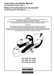 Dolmar PC-6435 PC-7330 Saw User Manual