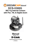 D-Link DCS-5300G Automobile Electronics User Manual