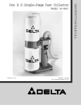Delta 50-840 Dust Collector User Manual