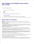 Dell 2350D/DN Printer User Manual