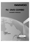 Daewoo DDT-21H9 S TV DVD Combo User Manual
