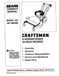 Craftsman 917.389061 Lawn Mower User Manual