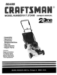 Craftsman 917.37248 Brush Cutter User Manual