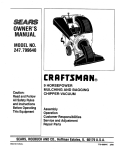 Craftsman 79964 Chipper User Manual