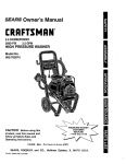 Craftsman 580.76201 Pressure Washer User Manual