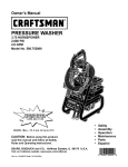 Craftsman 580.752 Pressure Washer User Manual