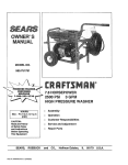 Craftsman 580.751781 Pressure Washer User Manual