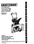 Craftsman 536.886141 Snow Blower User Manual