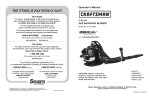 Craftsman 316.794991 Blower User Manual