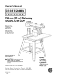 Craftsman 315.273731 Saw User Manual