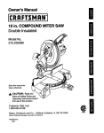 Craftsman 315.23538 Saw User Manual