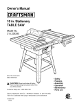 Craftsman 315.22839 Saw User Manual