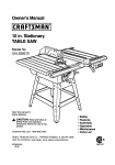 Craftsman 315.22831 Saw User Manual