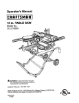 Craftsman 315.21829 Saw User Manual