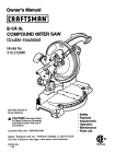 Craftsman 315.21208 Cordless Saw User Manual