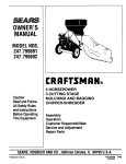 Craftsman 247.799890 Chipper User Manual