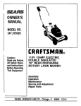 Craftsman 247.28901 Lawn Mower User Manual