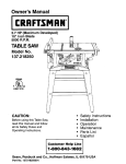 Craftsman 137.21825 Saw User Manual