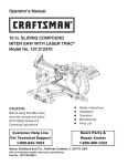 Craftsman 137.21237 Saw User Manual