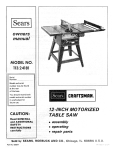 Craftsman 113.24181 Saw User Manual