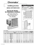 Chromalox PF490-5 Air Conditioner User Manual