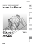 Canon MVX2i Camcorder User Manual