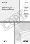 Canon MD 216 Camcorder User Manual