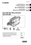 Canon LU A 90 Camcorder User Manual
