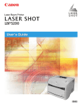 Canon LBP3200 Printer User Manual