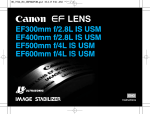 Canon EF500MM F4L IS USM Camera Lens User Manual