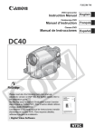 Canon DC 40 Camcorder User Manual