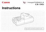 Canon CR-190I All in One Printer User Manual