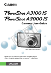 Canon A3000 IS Film Camera User Manual