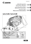 Canon 30 Camcorder User Manual