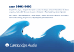 Cambridge Audio 640C CD Player User Manual