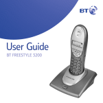 BT 3200 Cordless Telephone User Manual