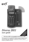 BT 2011 Telephone User Manual