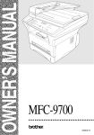 Brother MFC-9700 All in One Printer User Manual
