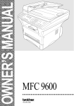 Brother MFC 9600 Printer User Manual