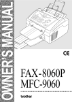 Brother 8060P MFC-9060 All in One Printer User Manual