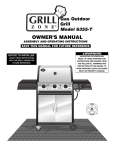 Brinkmann 6355-T Gas Grill User Manual
