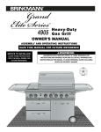 Brinkmann 4905 Gas Grill User Manual