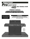 Brinkmann 4655 Gas Grill User Manual